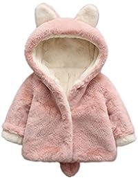 Abrigos Bebé, Xinan Ropa de bebé Chaqueta para niños Bebé niño niña de otoño invierno encapuchados abrigo capa chaqueta gruesa ropa caliente 0-36 Mes