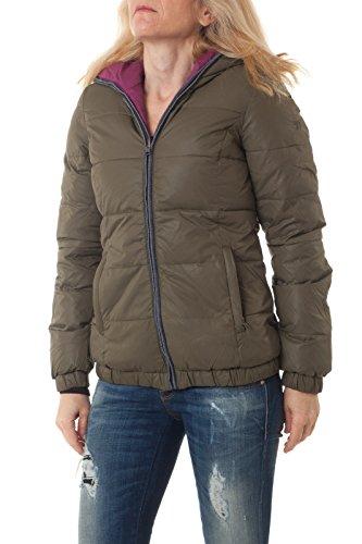 Tom Tailor Damen Jacke 3521679.01.71 khaki Steppjacke Kapuze Daunen Winter-Jacke, Größe:S
