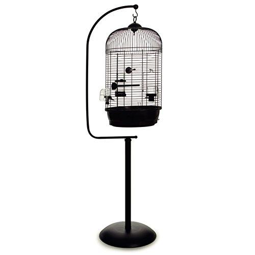 Vogelkäfig Voliere Vogelbauer rund mit passendem Ständer 'Julia & Jim' schwarz