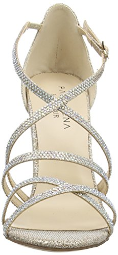 Paco Mena - Astrantia, Scarpe col tacco con cinturino a T Donna Beige (Beige (Stone))