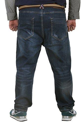 Menschwear Herren große Größen Jeans 5-Pocket Denim Strecken Stein Waschen 36-48 ITEM 14006