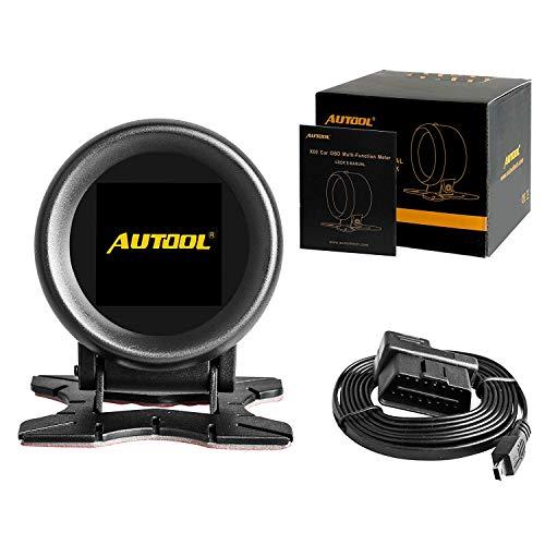 AUTOOL X60 Auto Hud Display Auto Head Up Display Smart Digital Meter&Alarm Fehlercode Wassertemperaturanzeige Digital Spannung Unterstützung 12V OBDII Diesel Benzin Fahrzeuge -