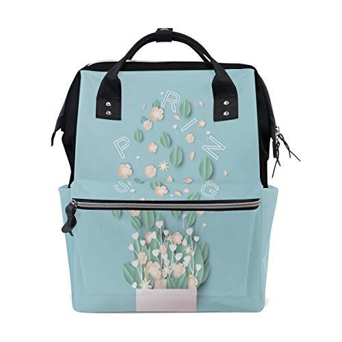 Blumenstrauß Entwurfs Papier Blumen Kunst große Kapazitäts Windel bauscht sich Mummy Rucksack multi Funktionen Windel Krankenpflegetasche Tote Handtasche für Kinder