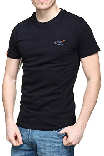 Superdry Herren ORANGE Label Vintage EMB Tee T-Shirt, Schwarz (Black 02A), XX-Large
