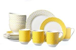 Ritzenhoff & Breker Joy 098976 Brunch Set 16 Pieces Yellow