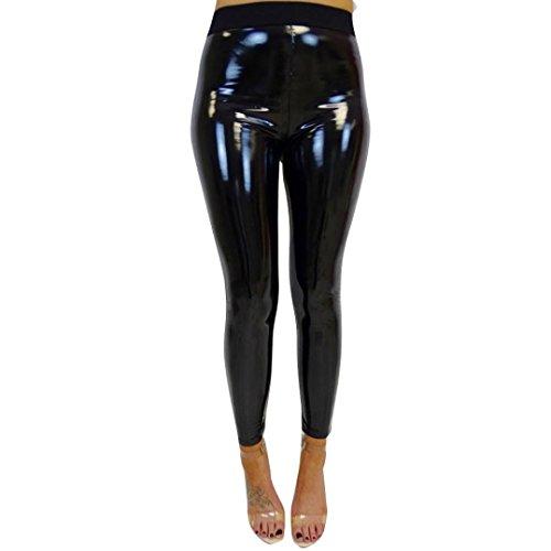 990918a4dfe7e TWIFER Damen Strethcy Shiny Sport Fitness Leggings Elastic Waist Hosen