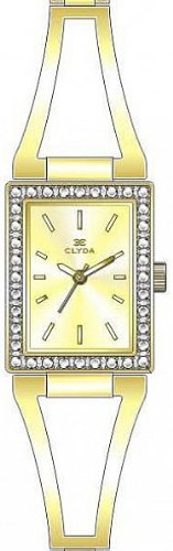 Clyda CLD0412HTIW Women's Analog Quartz Watch with Yellow Steel Bracelet
