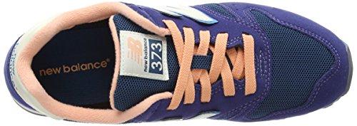 New Balance  WL373, Baskets basses femme Bleu - Blue (Navy/Salmon)