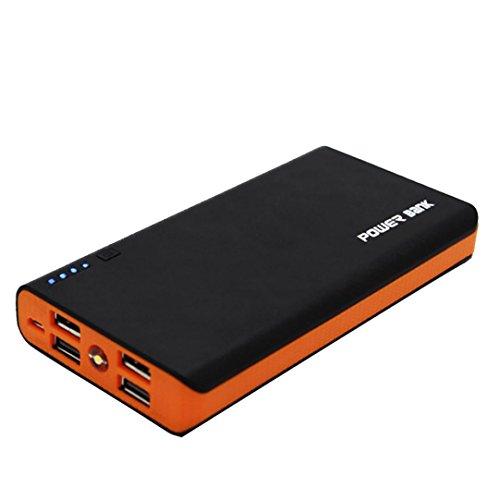A 4 USB-Energien-Bank-Kasten 6x18650 Batterieladegerät DIY Kasten-Kasten-Installationssatz für Telefon (Orange) ()