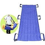 Transferir Tableros Cinturón Diapositiva Adulto Protector Movilidad Equipo Cuidado Pacientes de cama de hospital que colocan la almohadilla para ancianos (azul - 6 asas)
