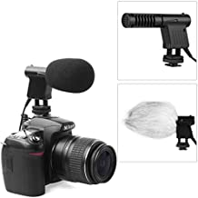 Boya micrófono de condensador de vídeo, micrófono de condensador direccional fotográfico, conector de audio de 3,5mm, de bajo ruido, compatible con Nikon D800, D800E, D3200, D600, conCanon: EOS 6D, 650D, 1D, 5D Mark IV, 7D, 60D, con Penta: K7, K-5 Sony: A55, A77, A99...