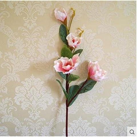 GWZ,Simulación de Ramos de flores de Magnolia de la decoración de flores de seda flores falsas culto templo Buda decorar el equipo de exhibición de la sala de estar , B