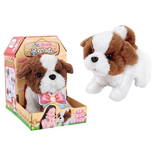 Gaddrt Netter Gehender Haustier Bellen Hund Elektronisches Spielzeug-Weichen Geschenk-Plüsch-Hund Für Kinder (C)