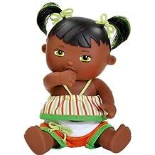 Paola Reina - Olivia, muñeca bebé negrita, de vinilo, 22 cm (23561)