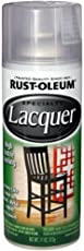 Rust-Oleum 1906830 Lacquer Glossy Clear Spray Paint (Transparent - 312 Grams)