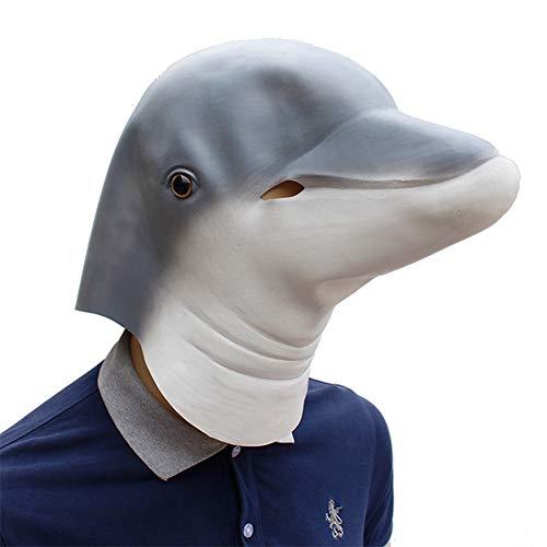 Kostüm Delfin Erwachsene Für - Latex Halloween Maske Delfin Lustige Tierkopf Volles Gesicht Maske Karneval Cosplay Neuheit Masquerade Kostüm Partei Requisiten Rolle Spiel Spielzeug Für Erwachsene