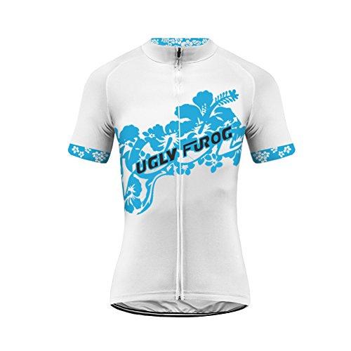 Uglyfrog Fahrradbekleidung Damen Kurzarm Radsport Trikots & Shirt Sport & Freizeit Sommer Style Full Zipper Mountainbike-Clothes #09