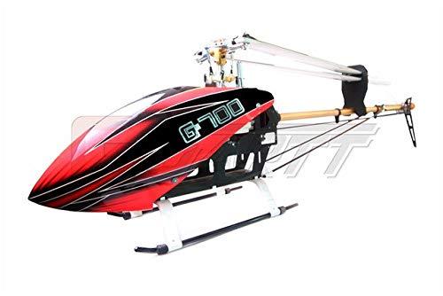 XuBa 700 DFC TT RC Helikopter Torque Tube Version Fiberglas Vordach passend für Align Trex Wie abgebildet