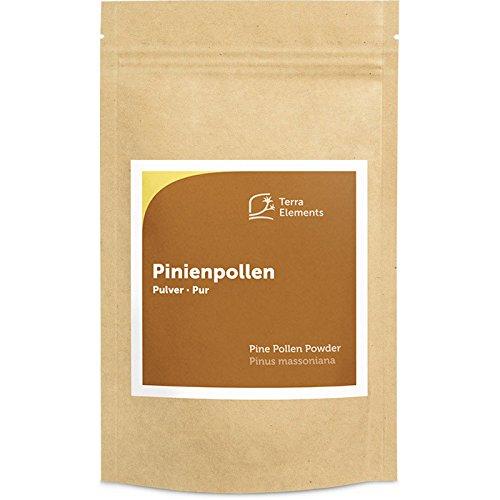 Terra Elements Pinienpollen Pulver 100 g I Pine Pollen I Pinus Massoniana I Wildwuchs I 100{a987daafbdcbc6c178828d4e0ad34b7aa8081e512148be19793d331aba142641} rein I Vegan