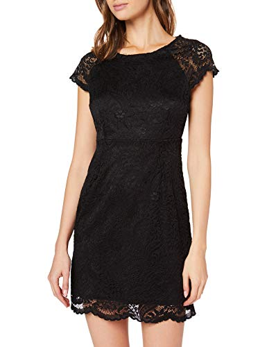 ONLY Damen onlSHIRA LACE Dress NOOS WVN Kleid, Schwarz (Black Black), 36