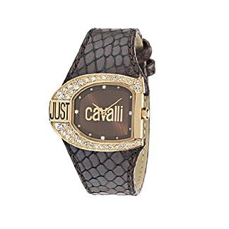 Just Cavalli Logo R7251160555 – Reloj de Mujer de Cuarzo, Correa de Piel Color marrón