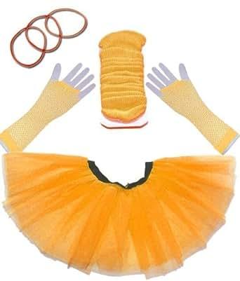 The Rock Collection TuTu Set (9 Colours) (Orange)