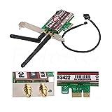Glodenbridge Netz Bluetooth 4.0dual-band, 2G/5G, 300Mbps pci-e PCI-Express wae3422Netzwerkkarte WLAN WiFi-Adapter 1*Pack