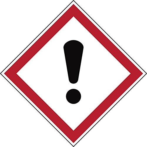 """Brady 811702 di sostanze pericolose in poliestere laminato, GHS """", dei pericoli per la salute, 70 mm x 70 mm, in cartoncino, 6 pezzi, colore: rosso/bianco su nero"""