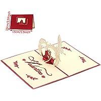 Dabixx 3D Pop Up Tarjeta de felicitación para Parejas Felices Aniversario de Weeding Valentines Invitación 10x15cm / 3.94x5.91