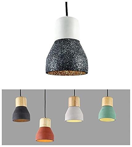 Moderne minimalistische Zement-Stil Pendelleuchte, 6 Farben Single Socket Taschenlampe Form, Home Restaurant Café Bar Esszimmer Schlafzimmer Dekorative Beleuchtung , Weiß