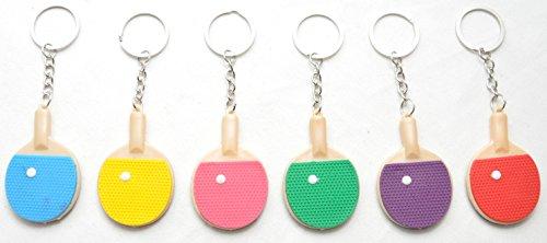 24 X Tischtennisschläger Schlüsselanhänger bunt by schenkfix