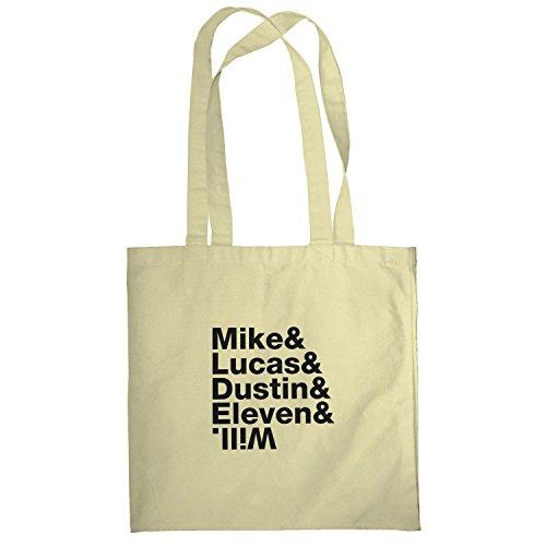 TEXLAB - Mike & Lucas & Dustin & Eleven & Will - Stoffbeutel, natur (Mr T Kostüm Xxl)