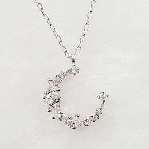 Liudaye Flash Diamond Halbmond Anhänger Mond Dame Halskette Schlüsselbein Kette Lady Geschenk