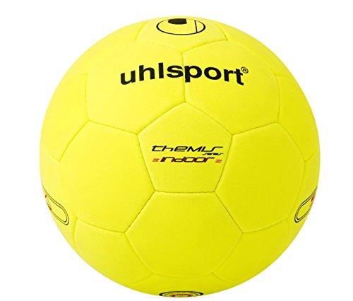 uhlsport Fußball Ball Themis Indoor, gelb/schwarz, 5, 100146601
