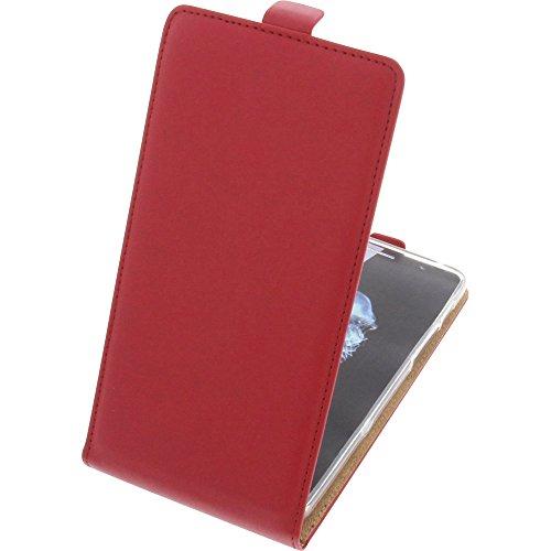 foto-kontor Tasche für Alcatel Flash Plus 2 Smartphone Flipstyle Schutz Hülle rot