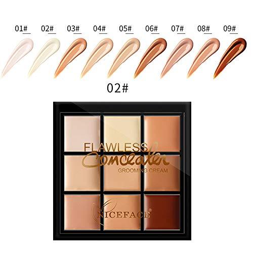Maquillage Professionnel Palette Contour Concealer 9 colori, Crème Concealer Foundation, Marqueurs de l'acné