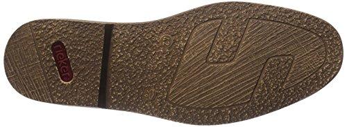 Rieker - 13403, Scarpe stringate basse derby Uomo Marrone (Braun (kastanie/royal / 25))