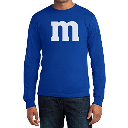 Süßes Kostüm Billig Paar - Witzig Süßes Outfit m Herren Karneval Fasching JGA Paar Kostüm Langarm T-Shirt X-Large Blau