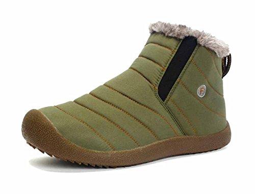 Unisex Caricamenti Del Sistema Di Neve 2017 Inverno Nuovi Stivali Di Cotone Antiscivolo Scarpe Sportive Calde All'aperto Formato 35-48 Green