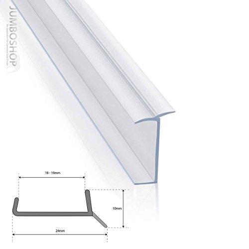 STEIGNER Joint de cuisine LU 16 mm / 17 mm 1,5 m Bavette de plinthe de meuble de cuisine, Transparent
