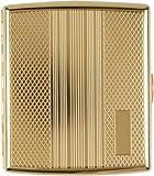 Unbekannt Zigarettenetui Metall Streifen gold mit Gravurfeld 20er