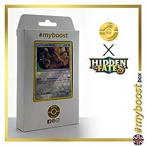 Kangaskhan 47/68 Holo Reverse - #myboost X Sun & Moon 11.5 Hidden Fates - Box de 10 cartas Pokémon Inglesas