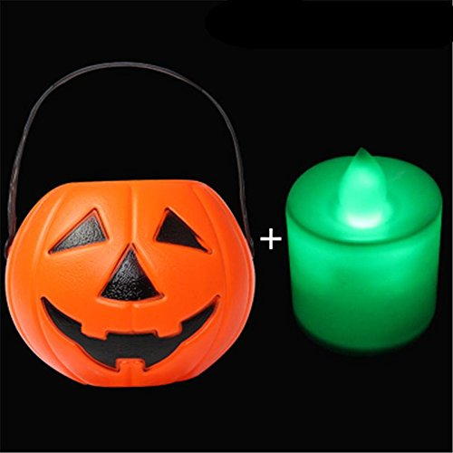 Halloween Kürbis Fässer Süßigkeiten Fässer Kinder Kürbis Lichter Stützen , (Reaper Kürbis Hängenden Kopf)