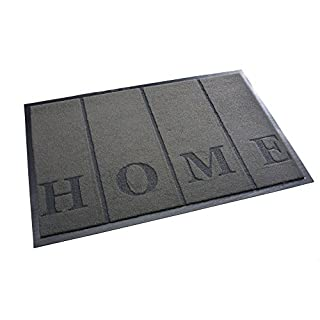 High Quality Rug & Shoe Scraper ✓ Extremely Durable ✓ Exterior and Interior ✓ Washable ✓ PVC Free - Entrance Mat, Welcome Mat - Exterior dust mat, Dirt trapping mat (HOME 40x60 cm, gray)