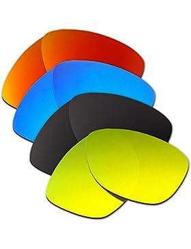 Hkuco Plus Mens Replacement Lenses For Oakley Jupiter Red/Blue/Black/24K Gold Sunglasses