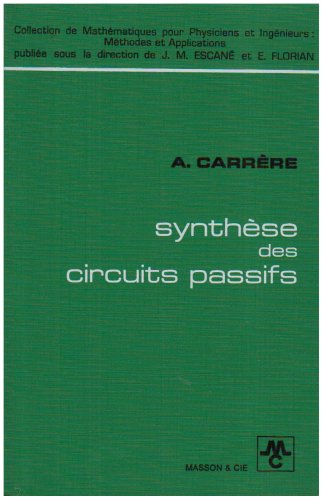 Synthèse des circuits passifs,
