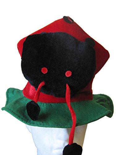 Lady Bird Tier hat - Neuheit Fancy Dress Party hat. Rot und ()