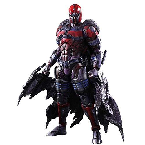 Magneto Kinder Kostüm - Siyushop Variant Play Arts Kai: Magneto Actionfigur - PA Change Actionfigur - Ausgestattet Mit Action-Charakter-Effekten Und Austauschbaren Händen - Hohe 26CM