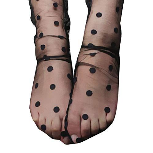 Passen Perfekt Zu Sheer (Deinbe Frauen-Mädchen-Nylon-Sterne-Grid Chic Mesh-Strümpfe Mädchen Transparent Sheer Thin Ankle Verbandsmull Strümpfe)