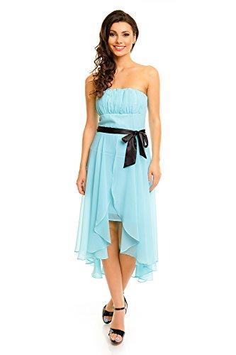Mayaadi Chiffonkleid Ballkleid Festkleid Abendkleid Partykleid Cocktailkleid Vokuhila HS-347 Aqua XL